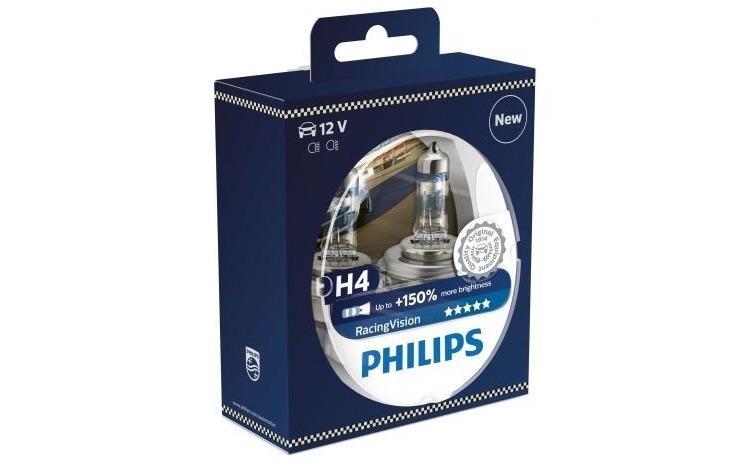 Becuri far Philips H4 Racing Vision