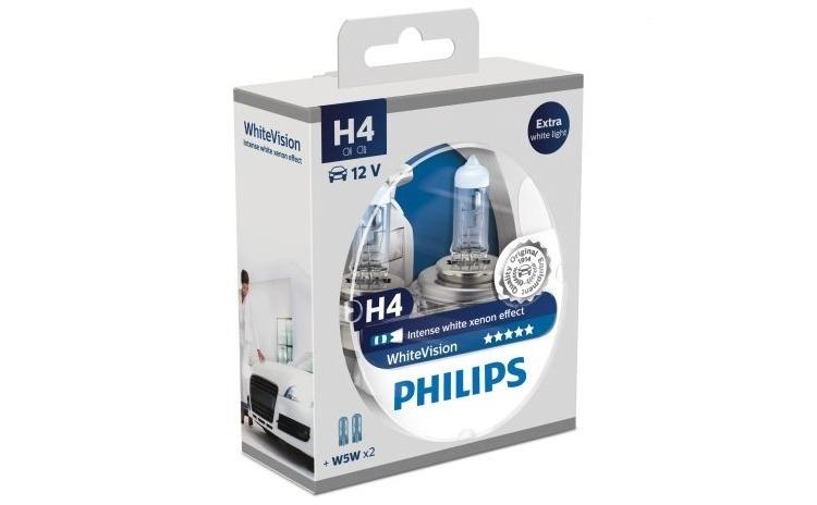 Philips H4 White Vision