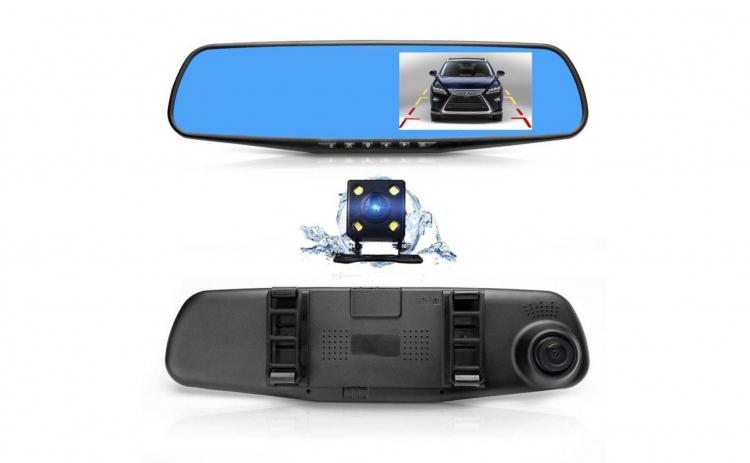 Oglinda auto cu 2 camere HD fata/spate