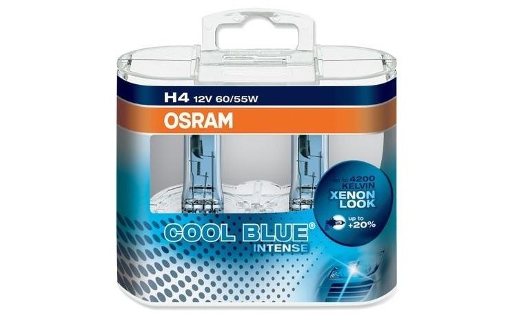 Set 2 becuri Osram H4 Cool Blue Intense