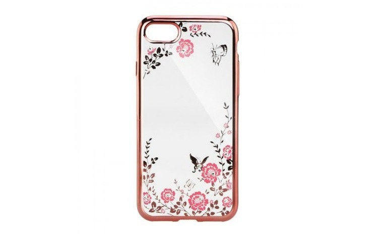 Husa Diamond iPhone XR, Rose/Auriu