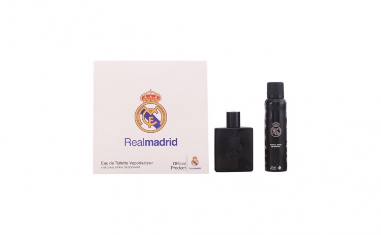 Set Sporting Brands - Real Madrid Black Edt - Apa De Toaleta+deodorant