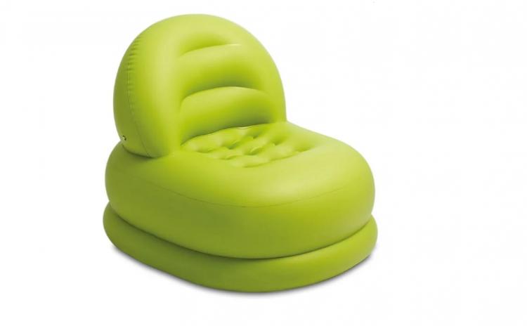 Fotoliu gonflabil cu spate verde