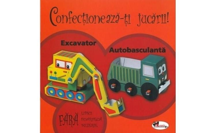 Confectioneaza-ti jucarii - Excavator. Autobasculanta
