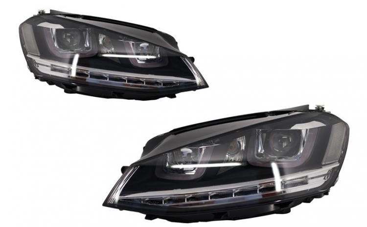 Set 2 faruri 3D LED compatibil cu VW Gol