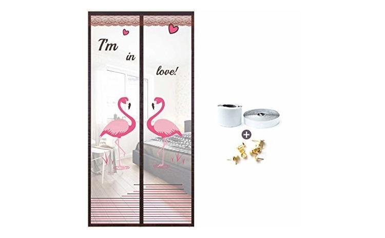 Perdea Anti-insecte Flamingo Roz si Mov