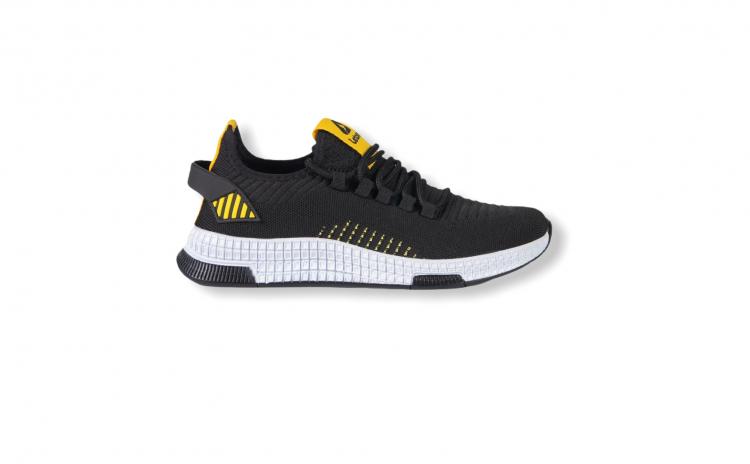 Sneakers Letoon negru-galben 2102