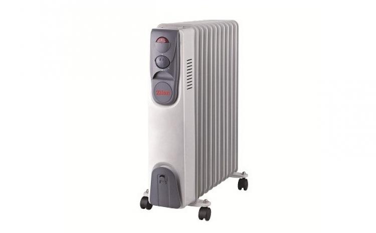 Calorifer Electric Zilan Zln-2128  11 Elementi  Putere 2500 W  3 Trepte De Putere  Termostat De Siguranta  Termostat Reglabil  La 305 Lei