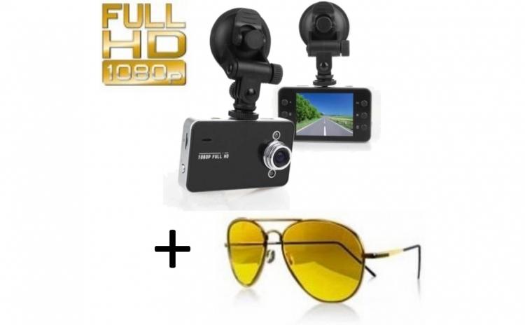 Camera auto DVR Full HD 1080p + Ochelari de condus noaptea Night