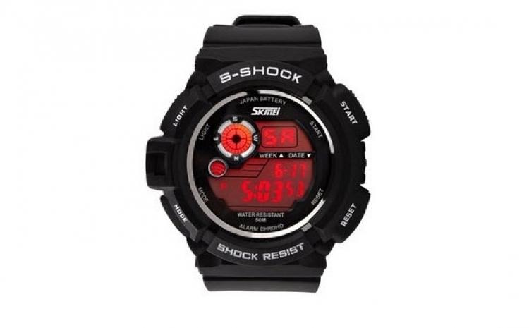 Ceas SKMEI AD0939 S-Shock Negru + Alb