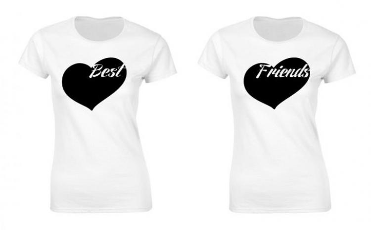 Set de tricouri pentru cele mai bune prietene P024, la 99 RON in loc de 200 RON