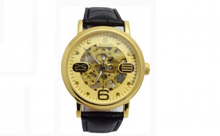 Ceas Mecanic Goer Skeleton Gold + Cutie Cadou, La 109 Ron In Loc De 229 Ron