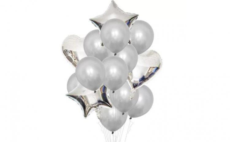 Set 16 baloane, argintiu