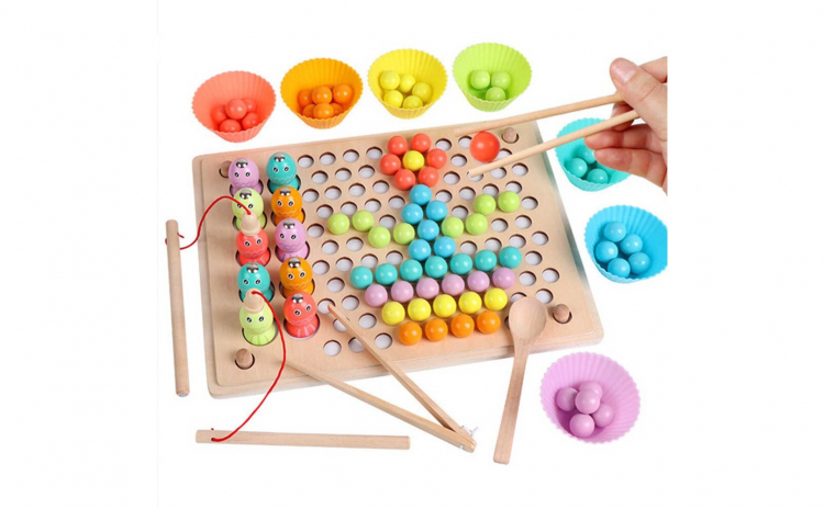 Joc Montessori 3 in 1 Pescuit Magnetic