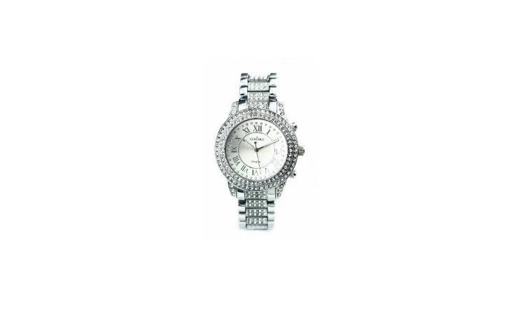 Ceas de dama Geneva Crystal Silver