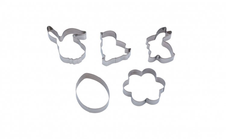 Set 5 forme metalice prajituri de Paste