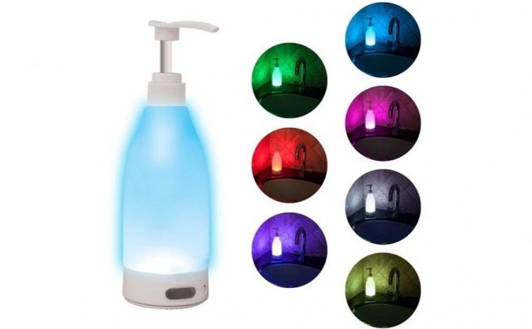 Dozator sapun cu lumina LED