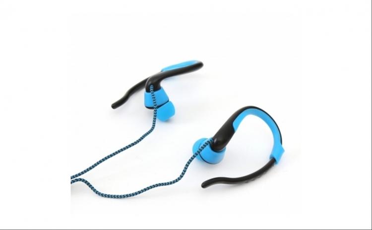 Imagine indisponibila pentru Casti Audio Bluetooth Fiesta cu buton de Selfie si microfon, Sport, Albastru