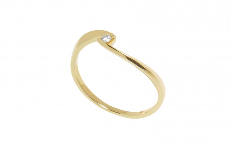 Inel din aur 14K cu diamant