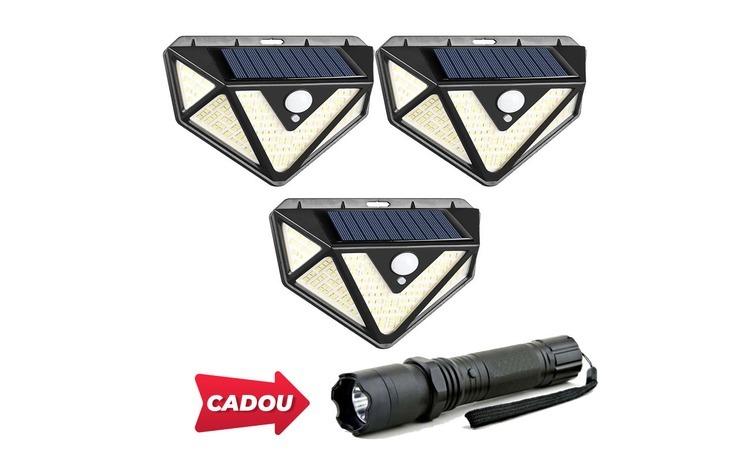 Set 3 lampi solare PREMIUM, 166 LED,