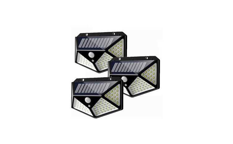 Lampa solara de perete 3 x 100 leduri