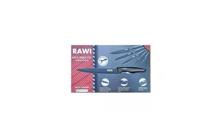 Set de 6 cutite RAWI, din metal