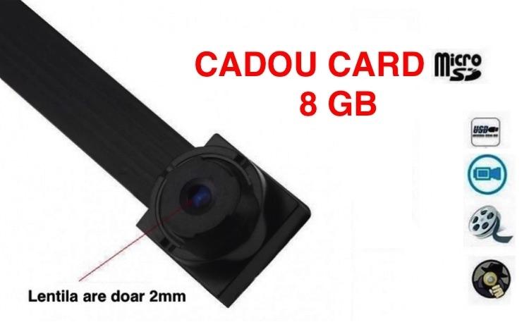 Microcamera SPION, lentila 2mm, urmarire LIVE + CADOU CARD Memorie 8GB la 199 RON in loc de 399 RON! Garantie 12 luni! Vezi video