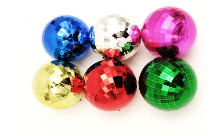 Set 6 globuri colorate, 5 cm