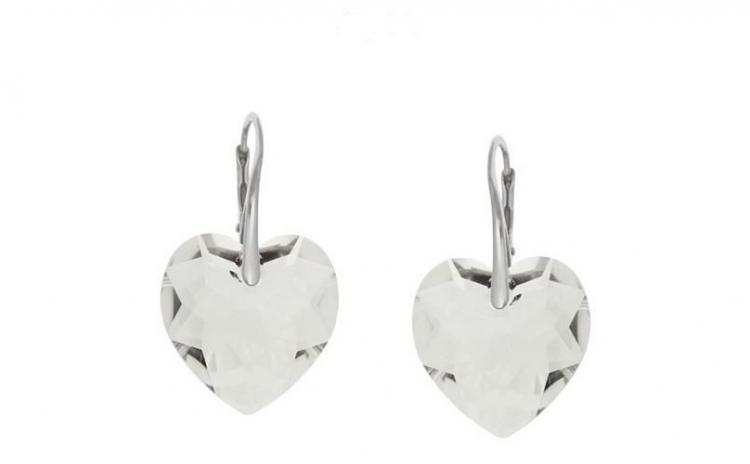 Cercei Heart Leverback Crystal