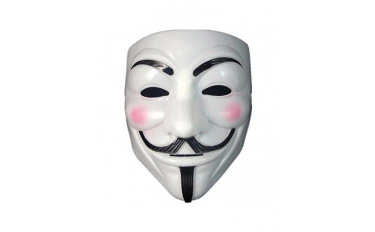 Masca V for Vendetta, alb, Gonga