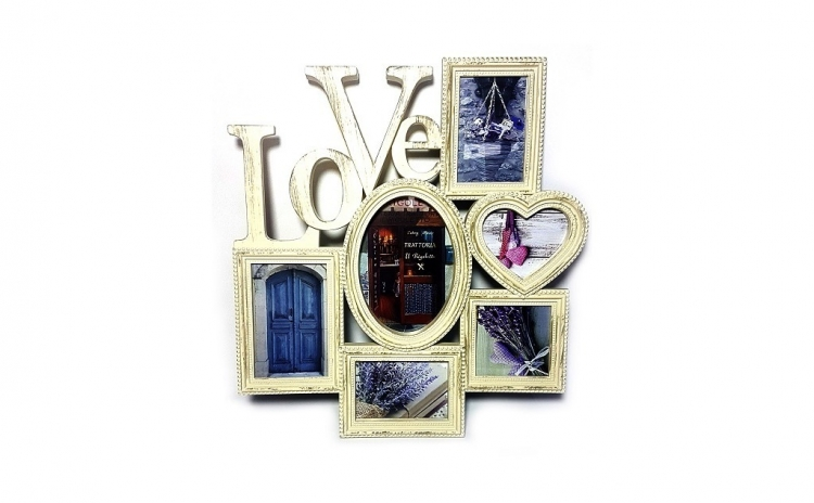 "Rama foto vintage ""Love"""