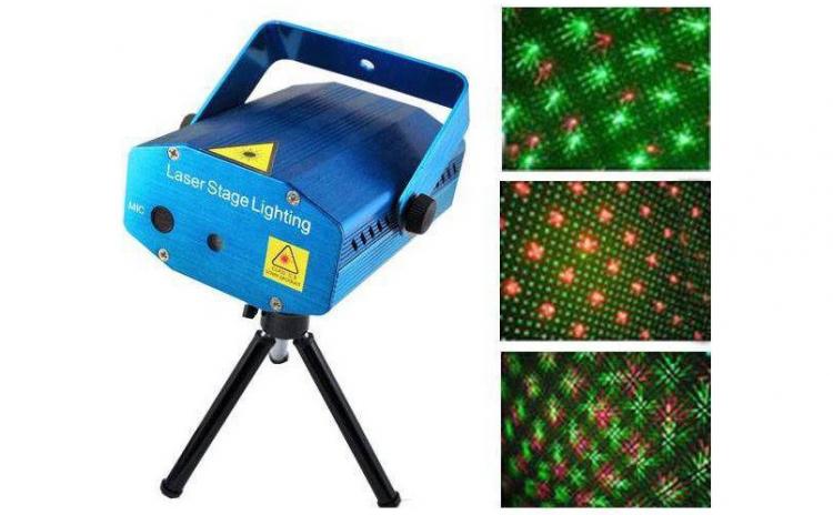 Laser disco -Microfon si senzor de sunet integrat + ventilator interior - Explozie de puncte - Ideal pentru discoteci, cluburi, petreceri, aniversari, nunti etc., la 84 RON in loc de 175 RON
