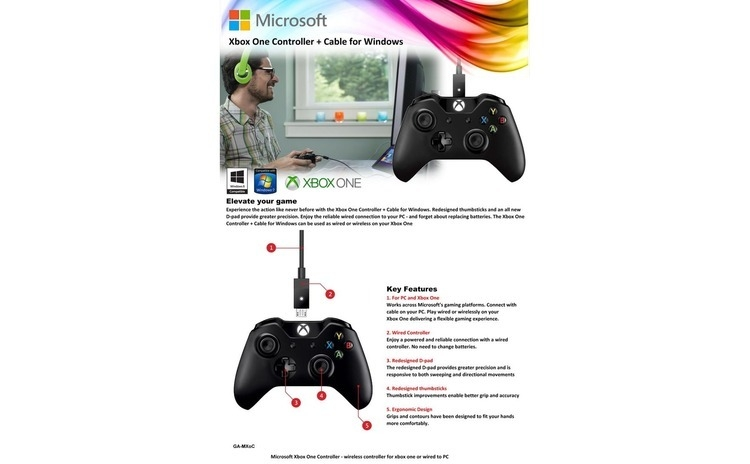 Imagine indisponibila pentru Joc Xbox One Wireless Controller Witch Cable For Windows Pentru Xbox One