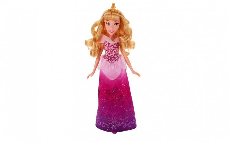 Papusa Aurora cu rochita stralucitoare