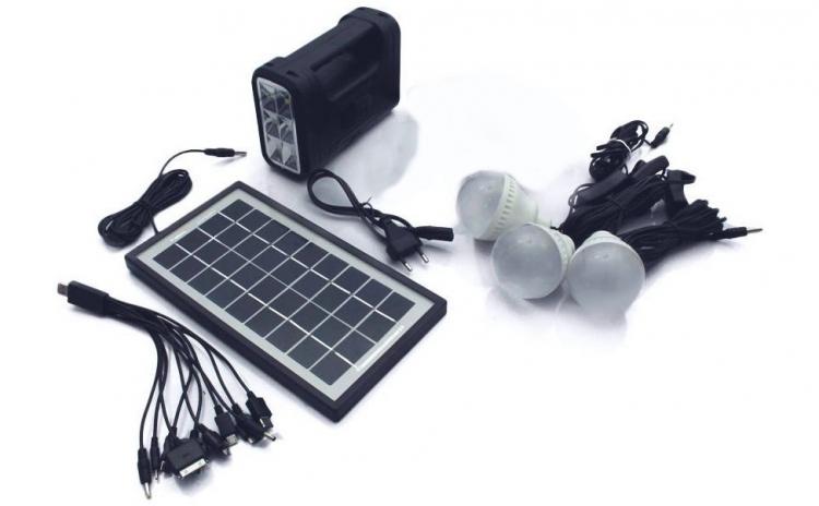 Kit panou solar 3 becuri
