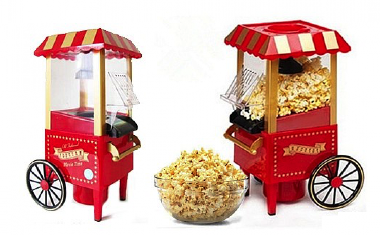 Masina Pentru Preparare Popcorn Fara Ulei, La Doar 219 Ron In Loc De 459 Ron! Garantie 12 Luni!