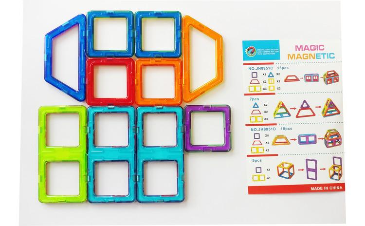 Set de constructie magnetic 3D, Magnetic