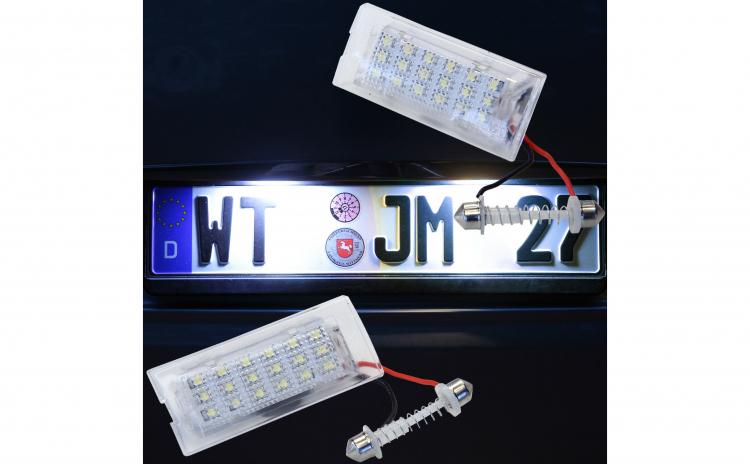 Lampi numar LED BMW X5 E53, X3 E83