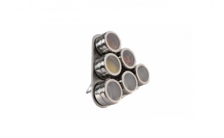 Set Condiment Din Inox - 6 Piese Cu Suport Magnetic Gr327  La Doar 59 Ron In Loc De 99 Ron