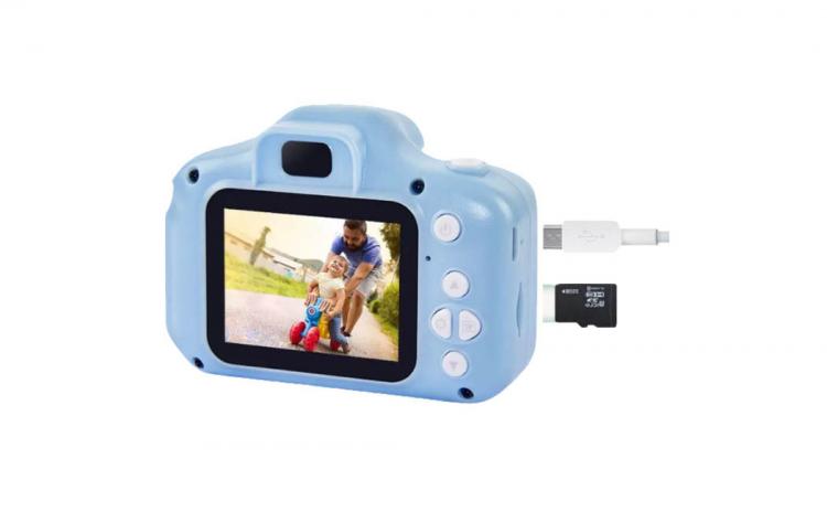 Camera foto copii+Card SD32GB, albastra