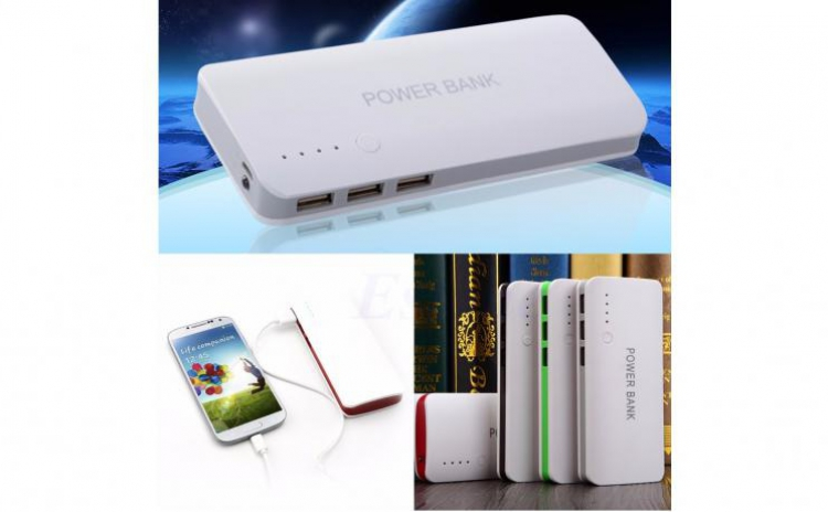 Baterie Externa Power 20000 mah Baterie Urgenta Cu 3 USB Pentru Telefoane, Tablete, Camere foto/video C24, la doar 69 RON in loc de 129 RON