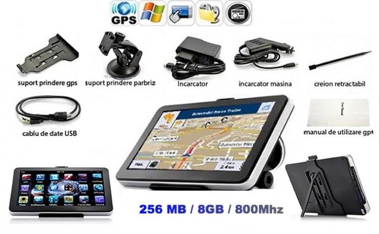 gps auto 7 inch hd 256mb 8gb navigatie auto taxi tir. Black Bedroom Furniture Sets. Home Design Ideas