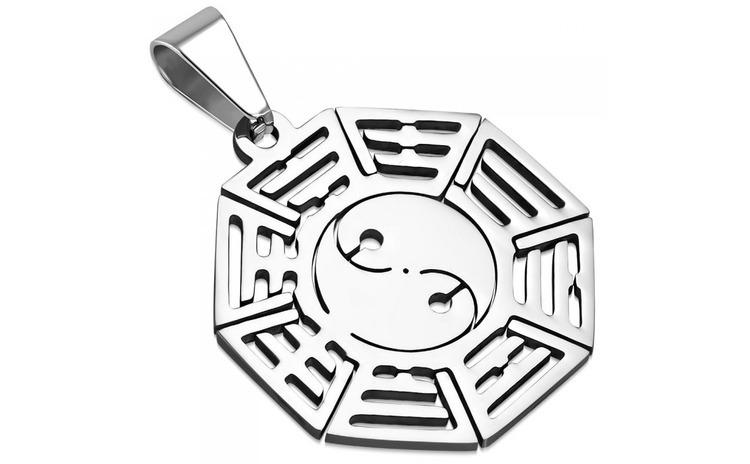 Pandant inox cu simbolul Tao Yin Yang