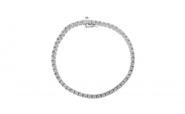 Bratara tennis din aur 14K cu diamante
