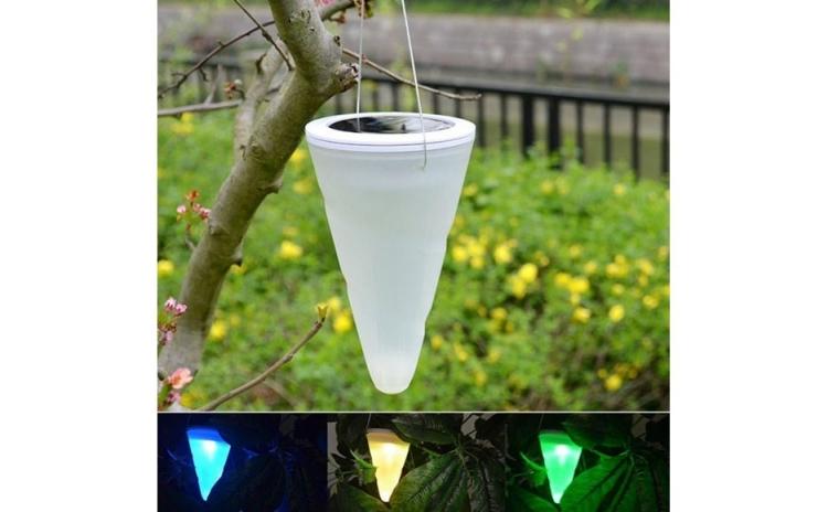 Lampa Solara Decorativa Conica  Culori Automat Int