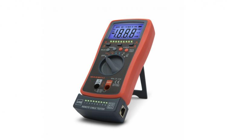 Multimetru digital automat, tester cablu