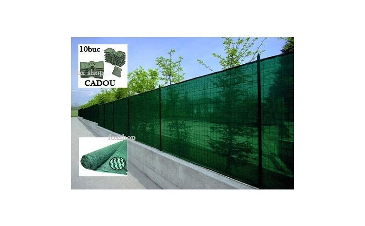 Plasa verde pentru gard 2,00m X 10 m