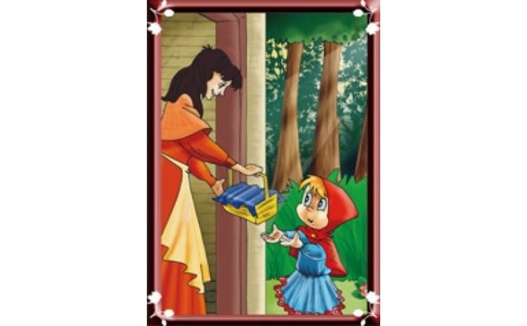 Scufita rosie (set 8 planse A4), autor Ilustratii de E...