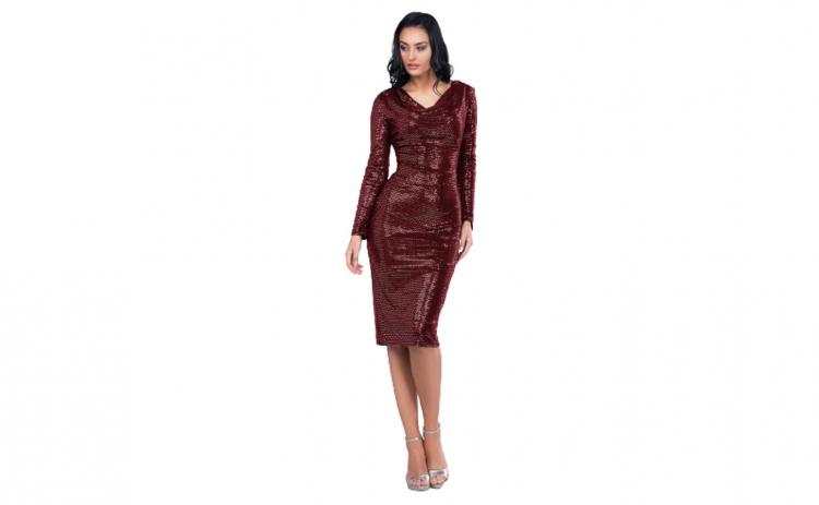 Rochie eleganta, culoare bordo