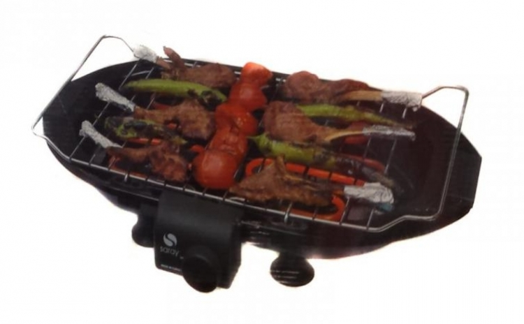 Gratar Electric Cu Grill Barbeque Grunberg  Inox  3 Nivele  2000 W  Bbq2000  La Doar 122 Ron In Loc De 177 Ron